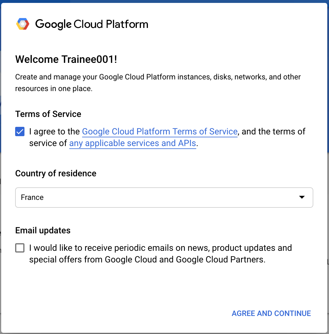 Google Cloud Terms of Service